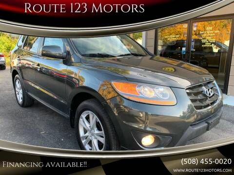 2011 Hyundai Santa Fe for sale at Route 123 Motors in Norton MA