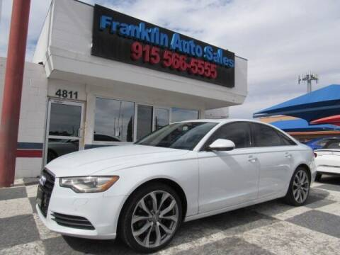 2013 Audi A6 for sale at Franklin Auto Sales in El Paso TX