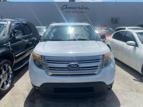 2013 Ford Explorer for sale at America Auto Wholesale Inc in Miami FL