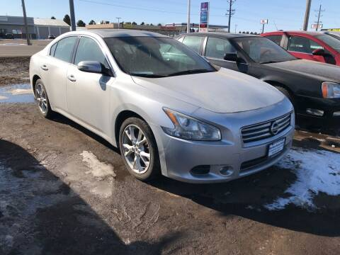 2013 Nissan Maxima for sale at BARNES AUTO SALES in Mandan ND