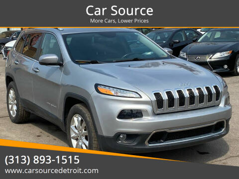 2016 Jeep Cherokee for sale at Car Source in Detroit MI