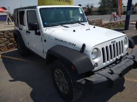 2016 Jeep Wrangler Unlimited for sale at VIVASTREET AUTO SALES LLC - VivaStreet Auto Sales in Socorro TX
