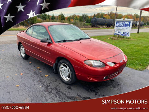 1999 Ford Escort for sale at SIMPSON MOTORS in Youngstown OH