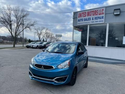 2019 Mitsubishi Mirage for sale at United Motors LLC in Saint Francis WI