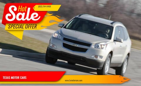 2010 Chevrolet Traverse for sale at TEXAS MOTOR CARS in Houston TX