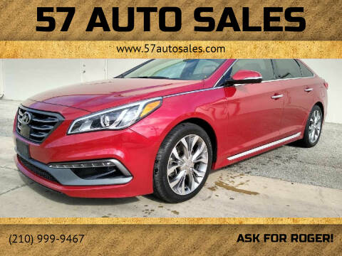2017 Hyundai Sonata for sale at 57 Auto Sales in San Antonio TX