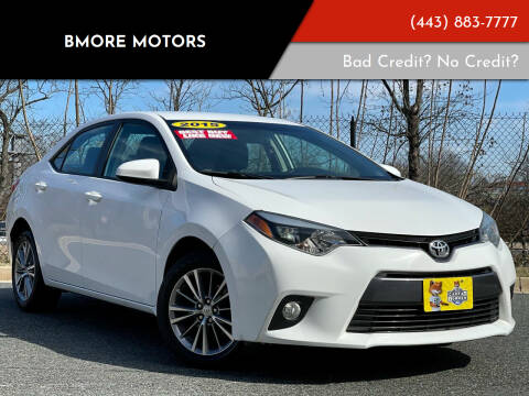 2015 Toyota Corolla for sale at Bmore Motors in Baltimore MD