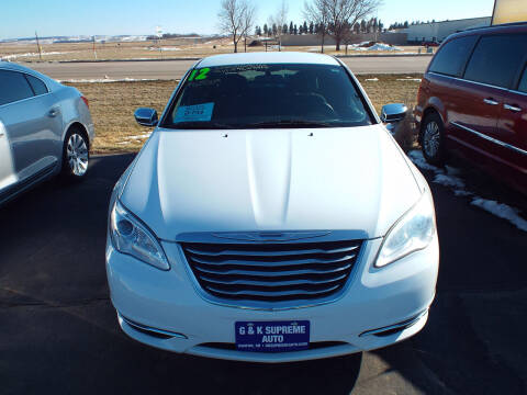 2012 Chrysler 200 for sale at G & K Supreme in Canton SD