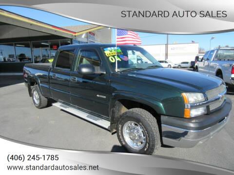 2004 Chevrolet Silverado 2500 for sale at Standard Auto Sales in Billings MT
