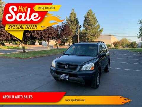 2003 Honda Pilot for sale at APOLLO AUTO SALES in Sacramento CA