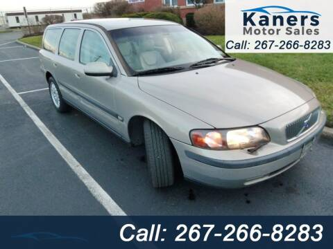 2001 Volvo V70 for sale at Kaners Motor Sales in Huntingdon Valley PA