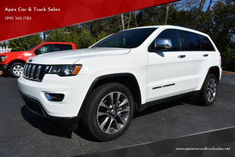 2018 Jeep Grand Cherokee for sale at Apex Car & Truck Sales in Apex NC