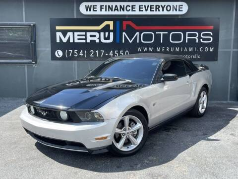 2010 Ford Mustang for sale at Meru Motors in Hollywood FL