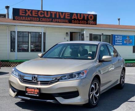 2017 Honda Accord for sale at Executive Auto in Winchester VA