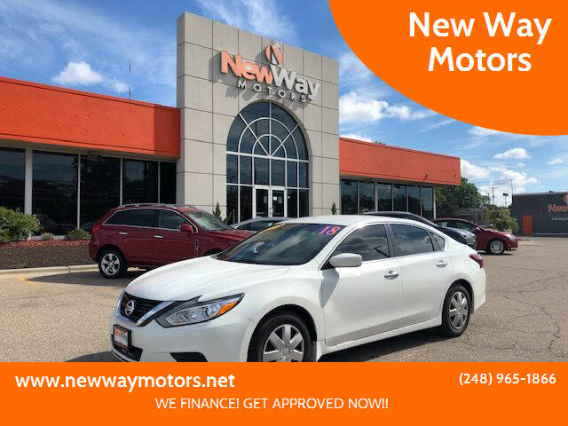 2018 Nissan Altima for sale at New Way Motors in Ferndale MI