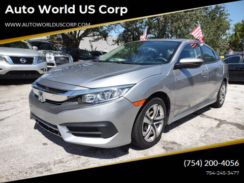 2016 Honda Civic for sale at Auto World US Corp in Plantation FL
