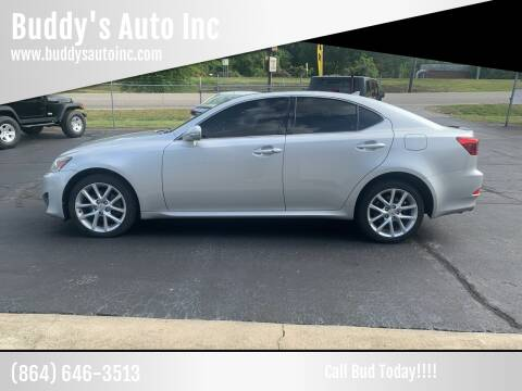 2013 Lexus IS 250 for sale at Buddy's Auto Inc in Pendleton, SC