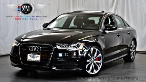 2013 Audi A6 for sale at ZONE MOTORS in Addison IL