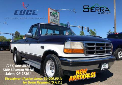 1994 Ford F-150 for sale at SIERRA AUTO LLC in Salem OR