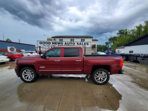 2016 Chevrolet Silverado 1500 for sale at GOOD NEWS AUTO SALES in Fargo ND