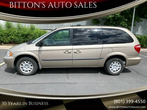 2002 Dodge Grand Caravan for sale at BITTON'S AUTO SALES in Ogden UT