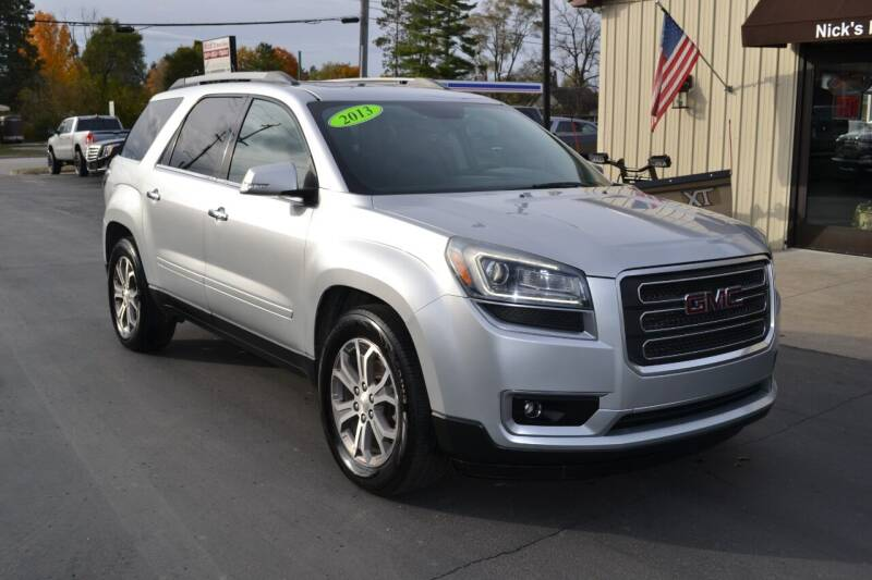2013 GMC Acadia for sale at Nick's Motor Sales LLC in Kalkaska MI