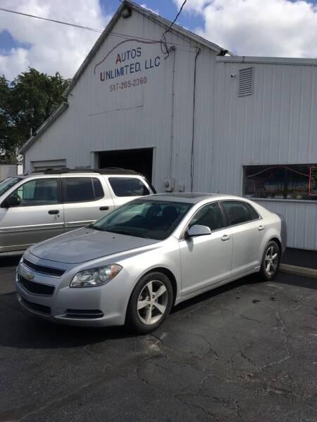 2011 Chevrolet Malibu for sale at Autos Unlimited, LLC in Adrian MI