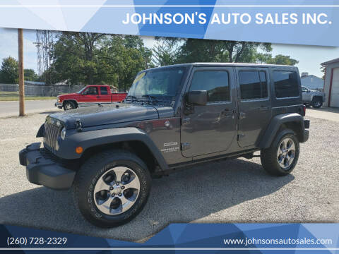 2017 Jeep Wrangler Unlimited for sale at Johnson's Auto Sales Inc. in Decatur IN