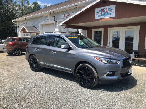 2018 Infiniti QX60 for sale at M&A Auto in Newport VT