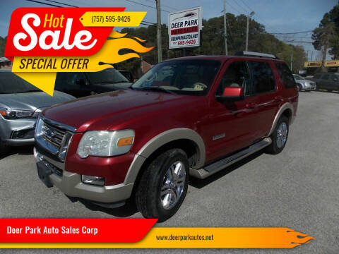 2006 Ford Explorer for sale at Deer Park Auto Sales Corp in Newport News VA