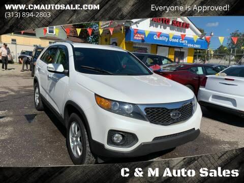 2013 Kia Sorento for sale at C & M Auto Sales in Detroit MI