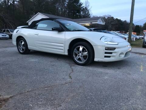 2001 Mitsubishi Eclipse Spyder for sale at CAR STOP INC in Duluth GA
