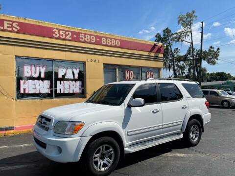 2005 Toyota Sequoia for sale at BSS AUTO SALES INC in Eustis FL