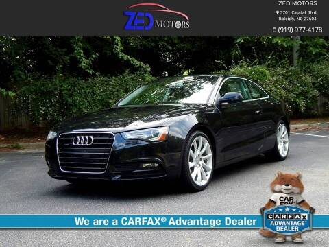 2013 Audi A5 for sale at Zed Motors in Raleigh NC