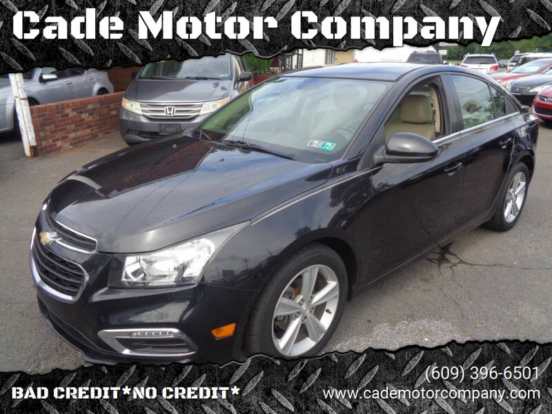 2015 Chevrolet Cruze for sale at Cade Motor Company in Lawrence Township NJ