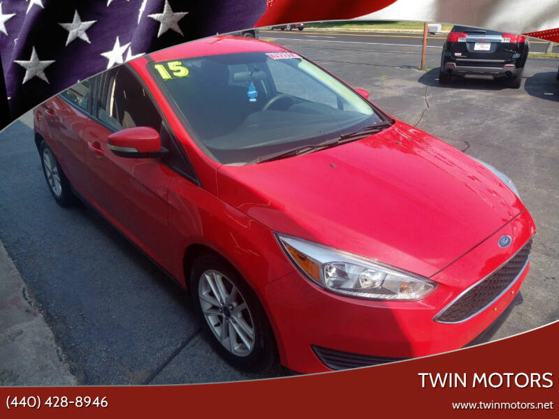 2015 Ford Focus for sale at TWIN MOTORS in Madison OH