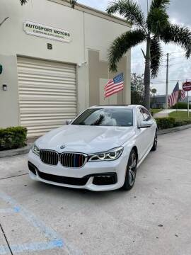 2016 BMW 7 Series for sale at AUTOSPORT MOTORS in Lake Park FL