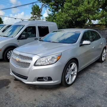 2013 Chevrolet Malibu for sale at America Auto Wholesale Inc in Miami FL