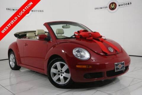2007 Volkswagen New Beetle Convertible for sale at INDY'S UNLIMITED MOTORS - UNLIMITED MOTORS in Westfield IN