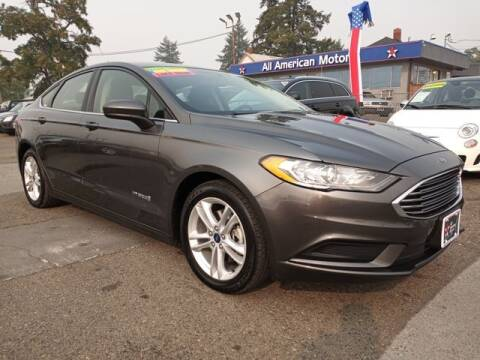 2018 Ford Fusion Hybrid for sale at All American Motors in Tacoma WA