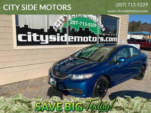 2013 Honda Civic for sale at CITY SIDE MOTORS in Auburn ME