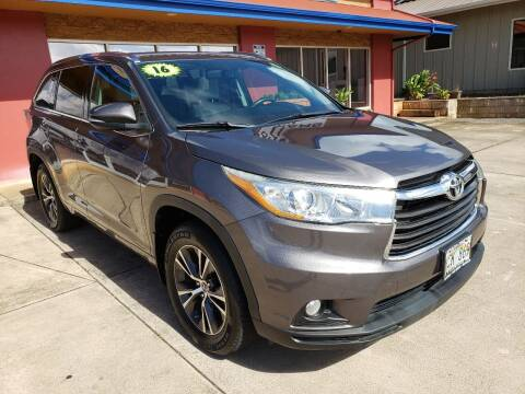 2016 Toyota Highlander for sale at Ohana Motors in Lihue HI