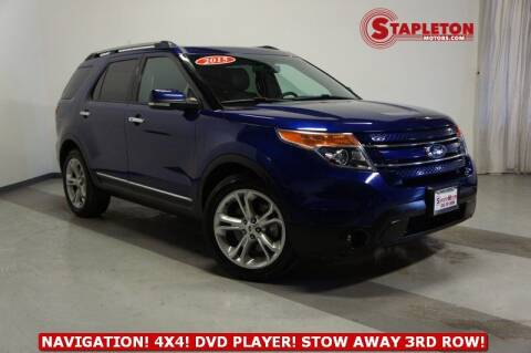 2015 Ford Explorer for sale at STAPLETON MOTORS in Commerce City CO