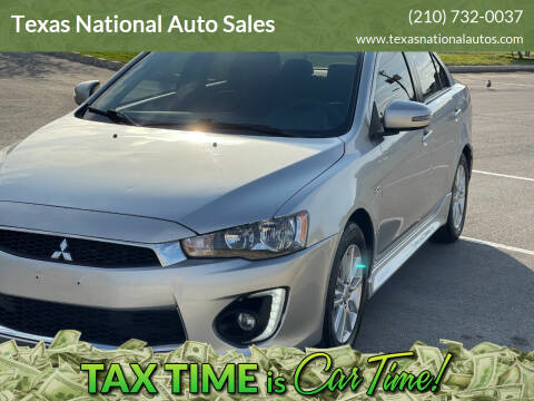 2016 Mitsubishi Lancer for sale at Texas National Auto Sales in San Antonio TX