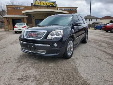 2011 GMC Acadia for sale at A MOTORS SALES AND FINANCE - 10110 West Loop 1604 N in San Antonio TX