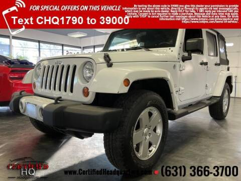 2011 Jeep Wrangler Unlimited for sale at CERTIFIED HEADQUARTERS in St James NY