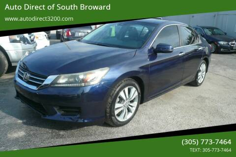 2013 Honda Accord for sale at Auto Direct of South Broward in Miramar FL