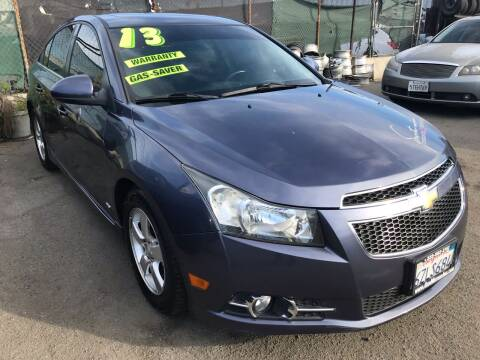 2013 Chevrolet Cruze for sale at CAR GENERATION CENTER, INC. in Los Angeles CA