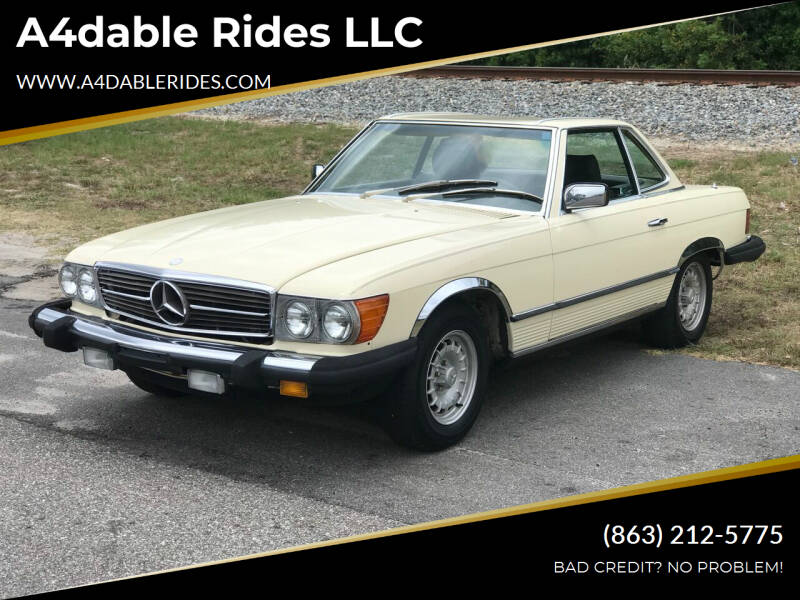 1984 Mercedes-Benz 380-Class for sale at A4dable Rides LLC in Haines City FL