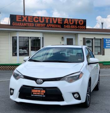 2016 Toyota Corolla for sale at Executive Auto in Winchester VA